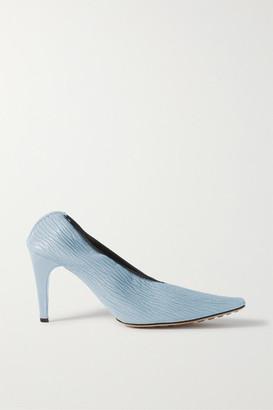 Bottega Veneta Textured-leather Pumps - Light blue