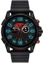 Diesel Diesel Full Guard 2.5 Black And Red Display Black Leather Strap Mens Smart Watch
