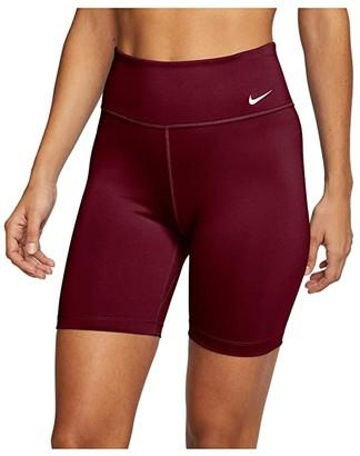 Nike One 7 Shorts (Olive Flak/White) Women's Shorts