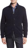 Ermenegildo Zegna Cable-Knit Cashmere Sweater, Navy