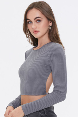 Forever 21 Ribbed Open-Knit Top