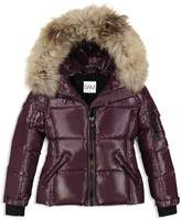 SAM. Girls' Fur-Trimmed Down Jacket