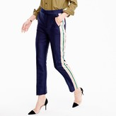 J.Crew Collection double-faced satin pant with pop tux stripe