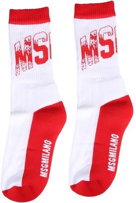 MSGM Logo Crew Socks