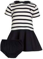 Polo Ralph Lauren STRIPE PONTE DRESSES BABY Jersey dress clubhouse cream/hunter navy