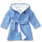 Ralph Lauren Striped Cotton Hooded Robe