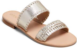 Jack Rogers Tinsley Metallic Slide Sandals