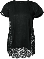 Sacai Short Sleeve Tee with Floral Lace Back