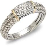Effy 925 Sterling Silver, 18K Gold & Diamond Band Ring