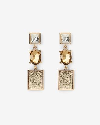 Express Textured Bezel Stone Drop Earrings