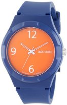 Jack Spade Men's WURU0003 Graphic Plastic Watch With Blue Band