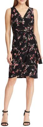 Chaps Floral Jersey Slim-Fit Dress