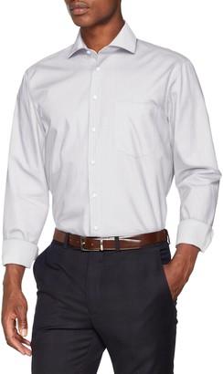 Seidensticker Men's Modern Langarm mit Kent-Kragen Soft Gepunktet Business Shirt