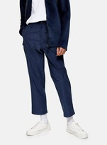 TopmanTopman FARAH Blue Hawtin Cropped Corduroy Trousers*