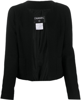 Chanel Pre Owned Open-Front Jacket