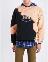 Balenciaga Oversized bleached cotton-jersey sweatshirt