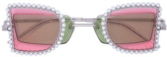 Lau Percy embellished tinted sunglasses