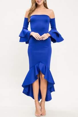 Latiste Cold Shoulder Dress