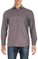 Michael Kors Tailored Fit Cotton Plaid Sportshirt