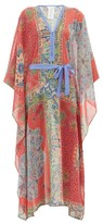 Etro Printed Chiffon Kaftan - Womens - Red Multi