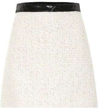 Miu Miu Embellished tweed miniskirt