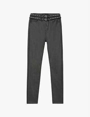 The Kooples Skinny faux-leather jeans
