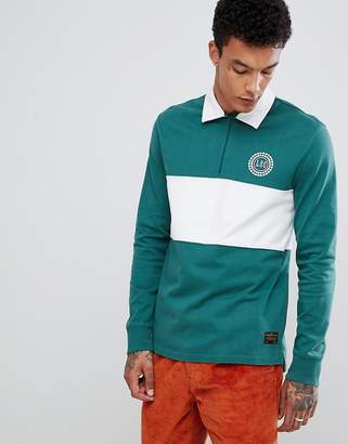 Levi's Levis Skateboarding Skateboarding Long Sleeve Rugby Polo With Panel In Green