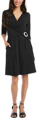 Karen Kane Faux Wrap Midi Dress