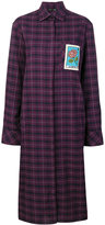 Each X Other patch plaid shirt dress