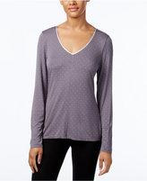Alfani V-Neck Printed Pajama Top, Only at Macy's