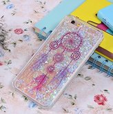 "Iphone 6 plus/6s plus Case,Jesiya Funny Creative Flowing Liquid Floating Bling Glitter Sparkle Hearts Stars Hard Case Cover For Iphone 6 plus/6s plus 5.5""(Dream Catcher Feather Bells)"