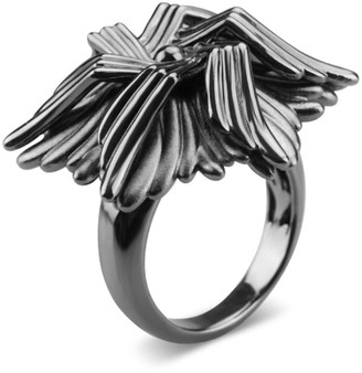 Bellus Domina Rhodium Plated Sea Flower Ring
