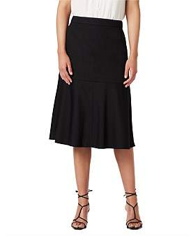 David Lawrence A Line Cotton Skirt