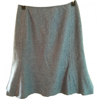 Max Mara Blue Wool Skirt for Women Vintage