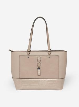 Dorothy Perkins Womens Taupe Pocket Front Shopper Bag