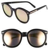 Karen Walker Women's 'Super Duper Superstars' 53Mm Sunglasses - Black With Rose Gold