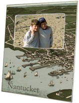 The Well Appointed House Nantucket Town Antique Map Decoupage Photo Frame-Can Be Personalized