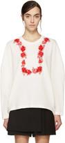 Giambattista Valli White & Red Floral Sweatshirt