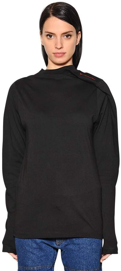 Y/Project Asymmetrical Logo Cotton Jersey T-Shirt