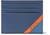 Prada Colour-Block Saffiano Leather Cardholder