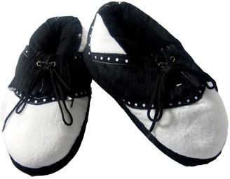 Longridge Mens Golf Slippers - Black/White Medium