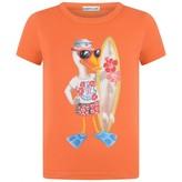 Moncler MonclerBoys Orange Duck Print Top
