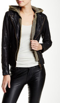 Doma Vintage Hood Moto Leather Jacket