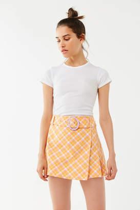 Urban Outfitters Gina Plaid Tailored Mini Skort