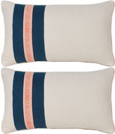 Miles Talbott Collection S/2 Glynn 12x20 Pillows, Antiqued White