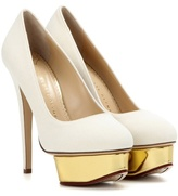 Charlotte Olympia Dolly Canvas Platform Pumps