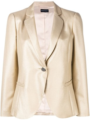 Emporio Armani Metallic Single Breasted Blazer