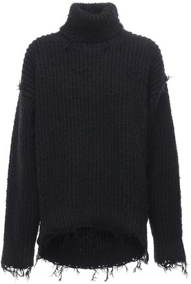 MONCLER GENIUS Wool Blend Knit Turtleneck Sweater