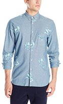 Barney Cools Men's Sharkly Chambray Long-Sleeve Button-Down Shirt