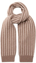 Max Mara Pinstriped wool and cashmere-blend scarf